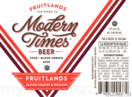 Modern Times, Fruitlands, Blood Orange and Hibiscus Gose 4.8% £19.50/£7.40