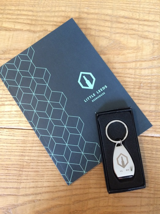 Note book and Bottle Opener Keyring