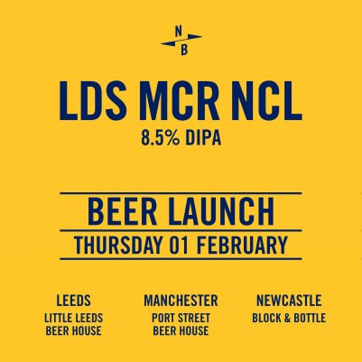 5pm-9pm North Brewing Co. X Wylam X Track LDS MCR NCL Double IPA 8.5%
