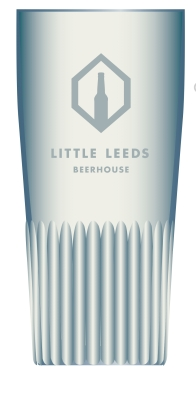 Half Pint glass. Little Leeds Beerhouse platinum logo £4.50